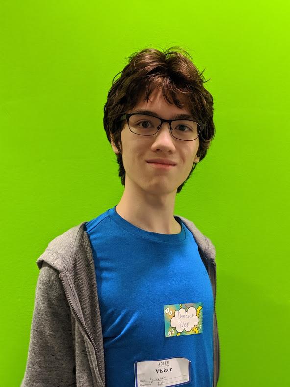 Duncan A. Yuen a member of the Adler Teen Program: Stratonauts