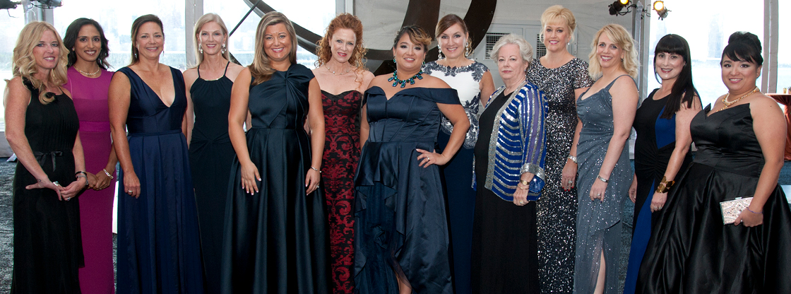 Women's Board at the Adler - picture taken of members during Celestial Ball