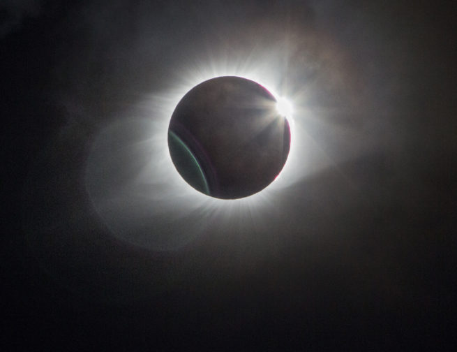 Total solar eclipse from August 21, 2017.
