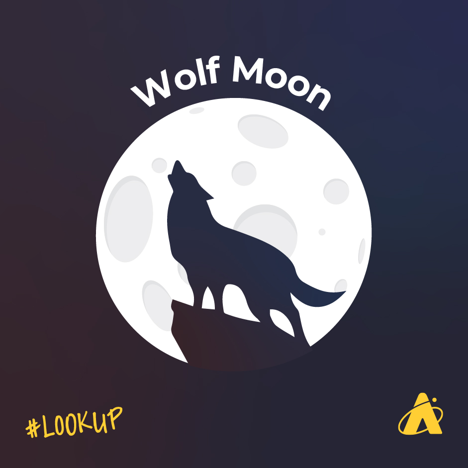 The January Full Moon is sometimes referred to as the Wolf Moon.