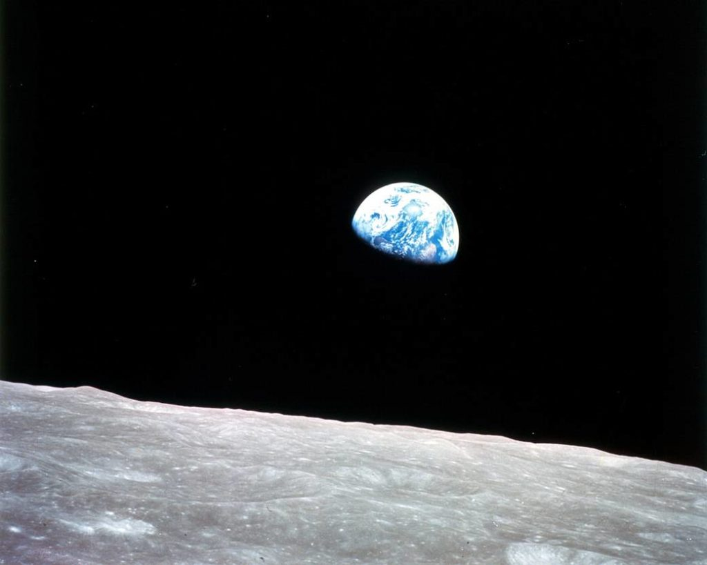 The famous Earthrise photo from the Apollo 8 mission. Image Credit: NASA