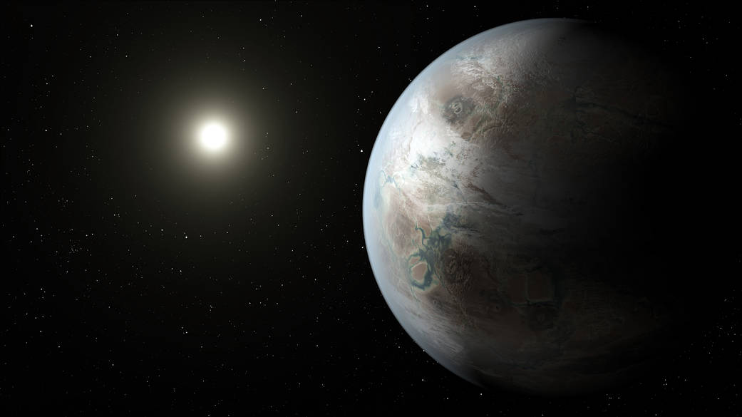 An artist's illustration of Kepler-452b.