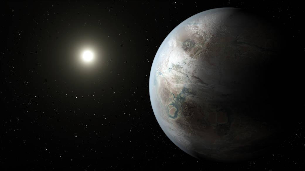 An artist's illustration of Kepler-452b.