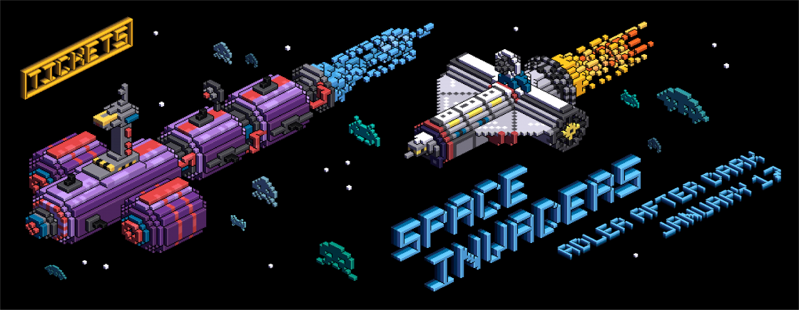 Image result for adler after dark space invaders