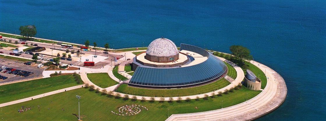 Aerial view of the Adler Planetarium