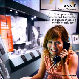 Curator of Experience Annie Vedder is this week's Adler Staff Star!