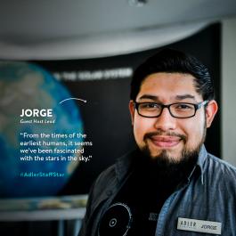 Guest Host Lead Jorge Arroyo is this week's Adler Staff Star!