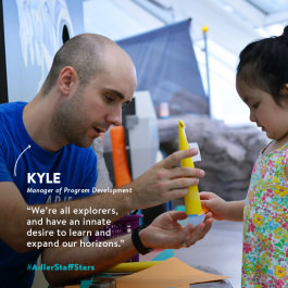 Manager of Program Development Kyle Sater is this week's Adler Staff Star!