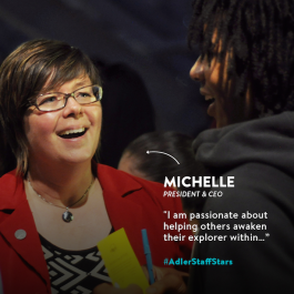 Adler President & CEO Michelle B. Larson, Ph.D., is this week's Adler Staff Star!