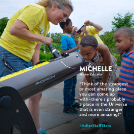 Master Educator Michelle Nichols is this week's Adler Staff Star