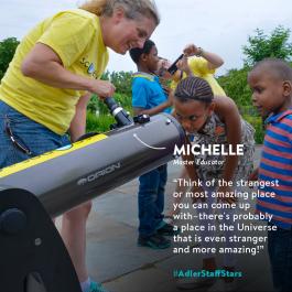 Master Educator Michelle Nichols is this week's Adler Staff Star