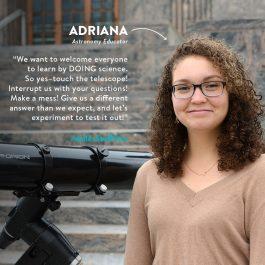 Adriana Guzman, Astronomy Educator, Adler Staff Star