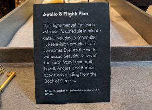 Apollo 8 Flight Plan Item Description
