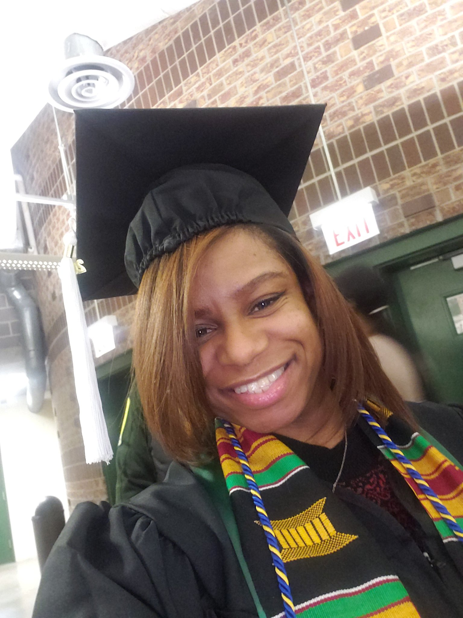 Ashley Walker pictured at her Chicago State University graduation ceremony.