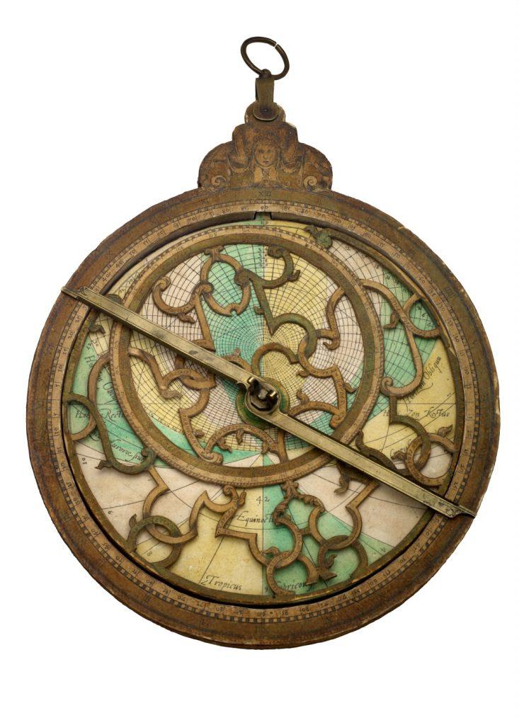 Astrolabe, Western, wood, paper, brass - Adler Planetarium