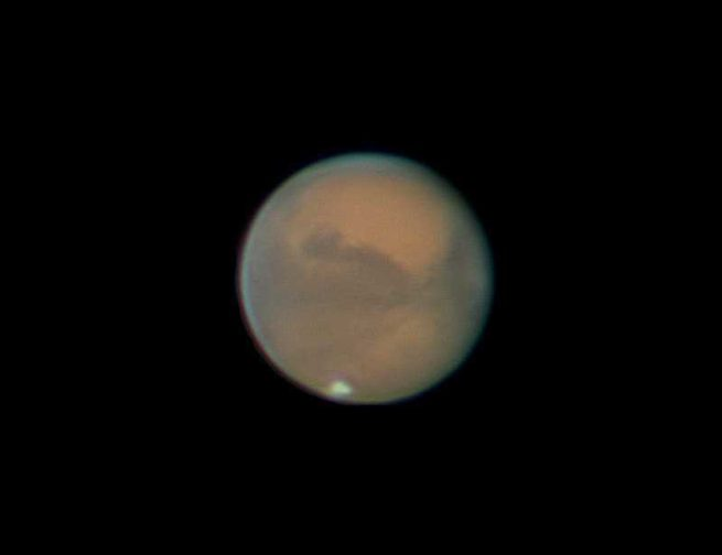 Mars can be seen here during its opposition in October 2020. Image Credit: Astrophotographer Nick Lake