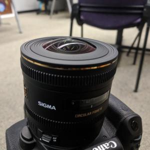 Camera with fisheye lens