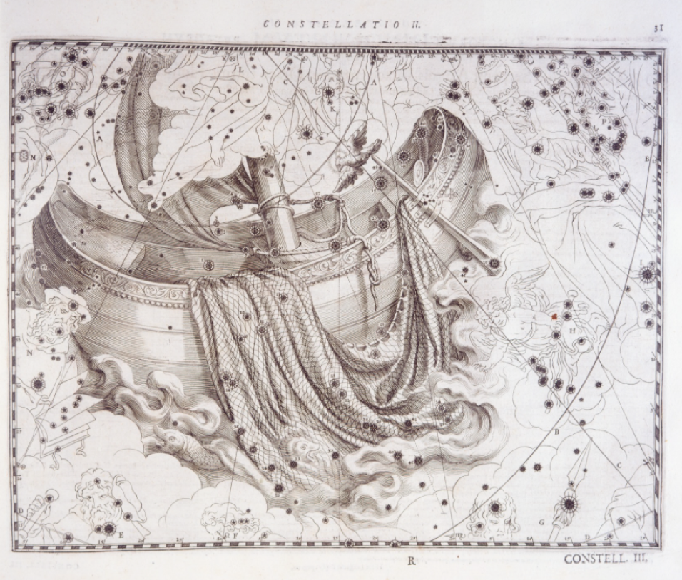 Plate from Julius Schiller, Coelum stellatum Christianum (1627), Adler Library