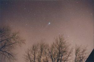 Comet Hyakutake taken approximately March 1996.