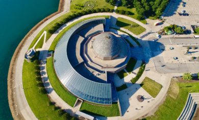 Aerial view of the Adler Planetarium