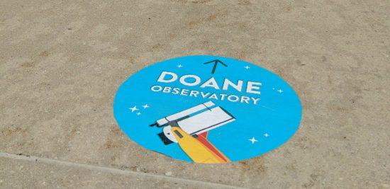 Doane Observatory Path Marker