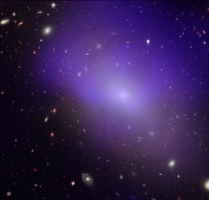 An example of a glowing elliptical galaxy, NGC 1132.