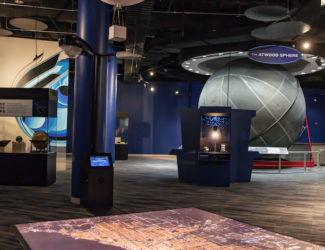 The Far Horizons display in the Chicago's Night Sky exhibit.