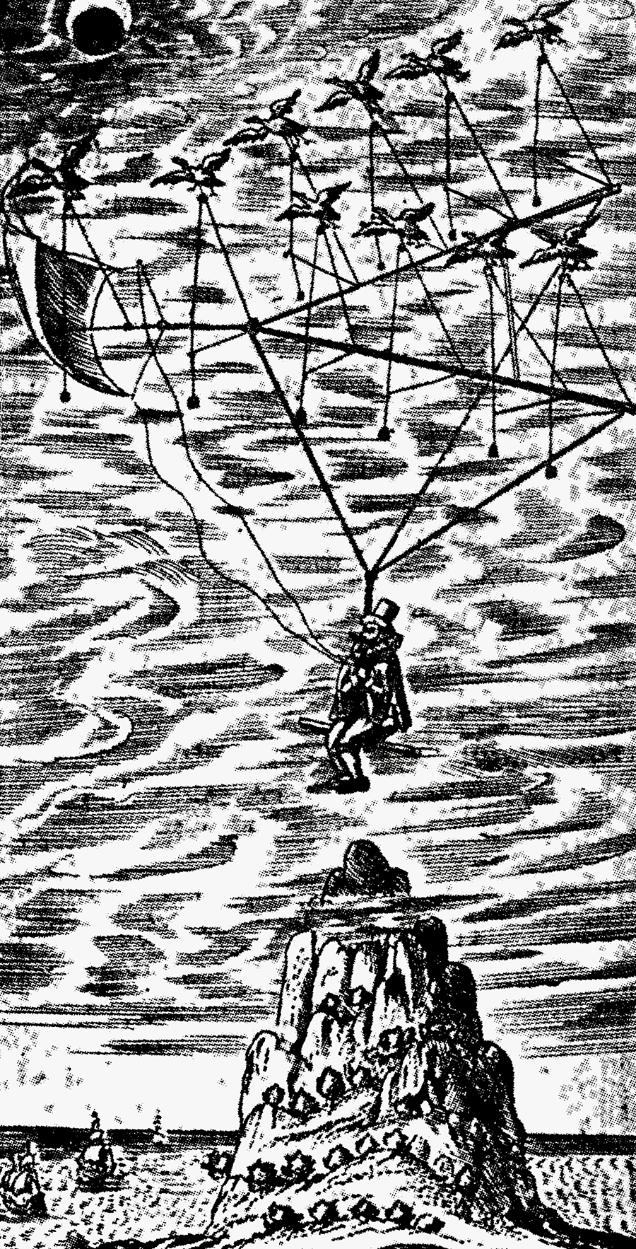 Historic Imagining of Moon Travel- Taken from the Adler vault