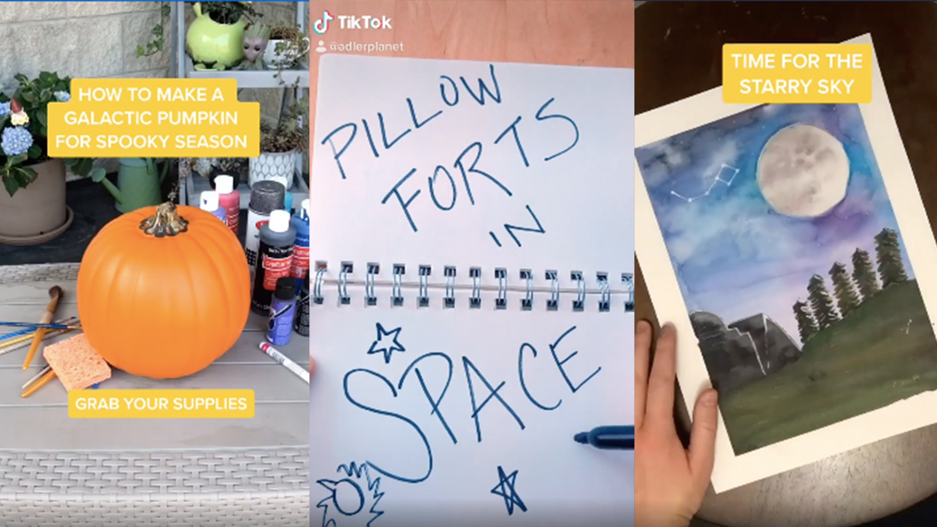 Pillow forts in space. Galactic Pumpkins and Watercolors