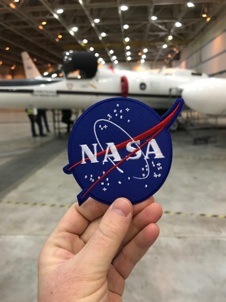NASA patch we received on the tour with the ER-2 aircraft in the background.