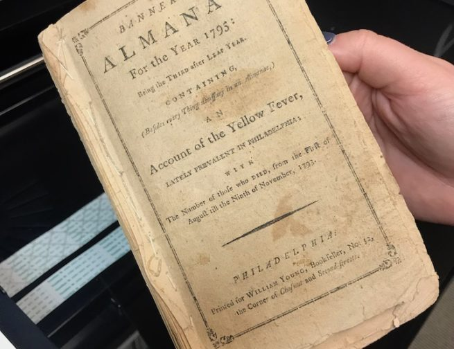 Benjamin Banneker almanac from the year 1795