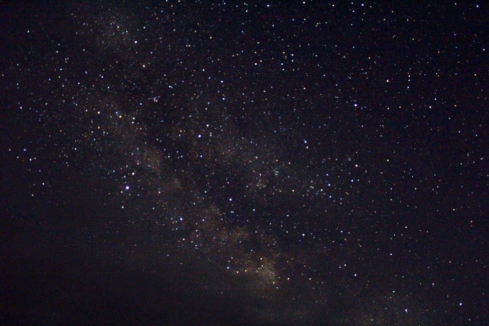 Photo of stars in the night sky on Sark Island, July, 2018. Photo Credit: Meredith Stepien