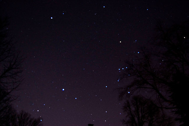 The nigh sky with orion visible.