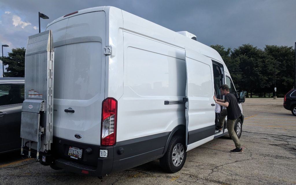 Packing up the van to head out to the Nasher Museum of Art (1)
