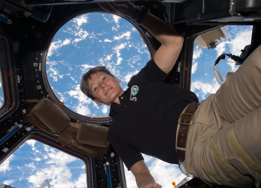 Astronaut Peggy Whitson on the ISS