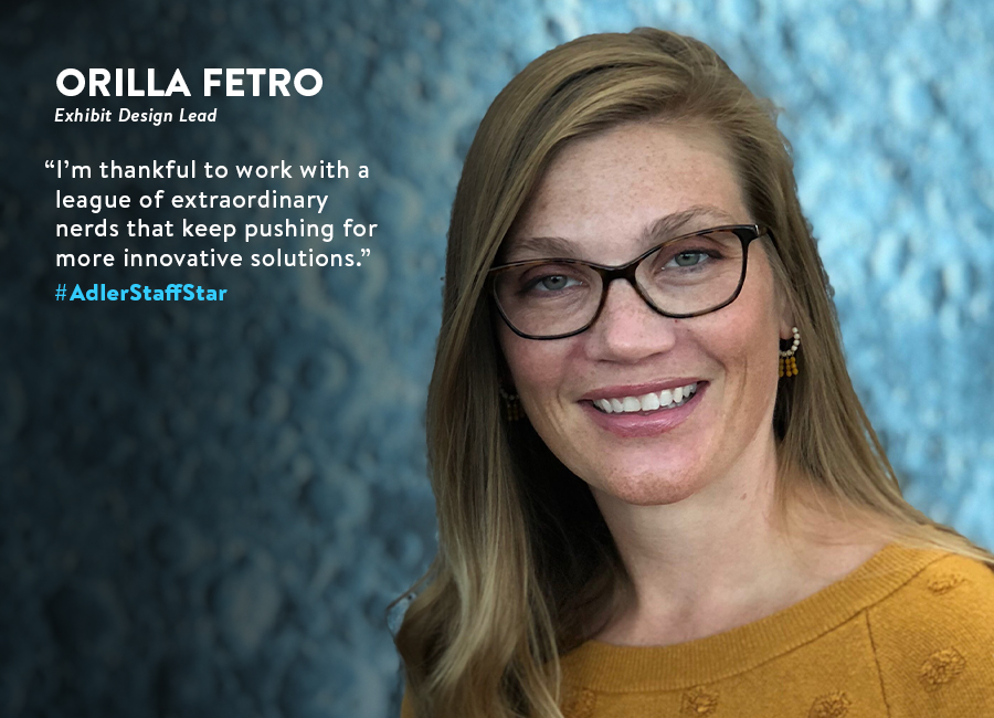 Head Shot of Adler Staff Star: Orilla Fetro