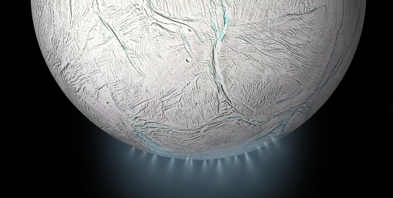 Artist's Illustration of Enceladus