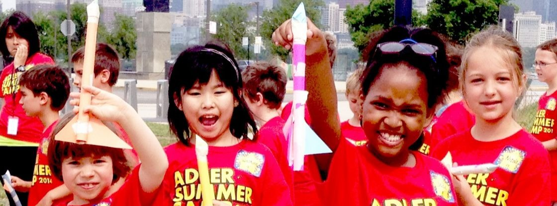 Adler Planetarium Summer Camps - Astro Full Day Camps - Kids enjoy playing with stomp rockets!