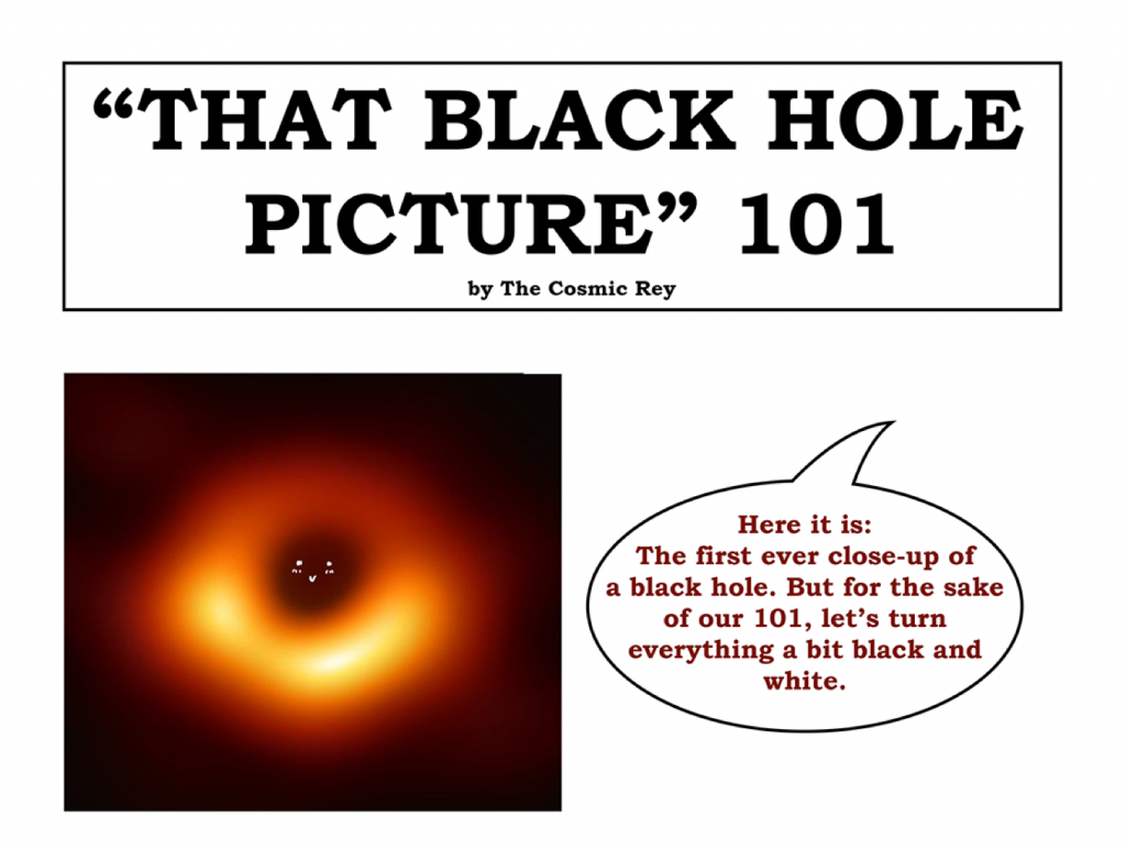 """Webcomic: """"That Black Hole Picture"""" 101 by the Cosmic Rey"""