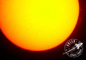 The Sun - photo taken using telescope