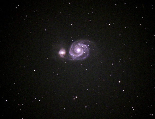 Whirlpool Galaxy taken by Adler Planetarium Telescope Volunteer Bill Chiu