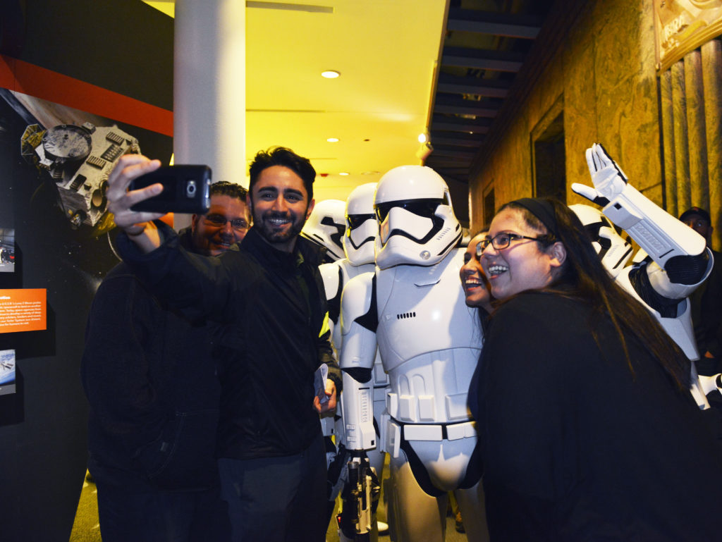 The 501st Stormtrooper Legion at the 2016 Adler After Dark: Geek Chic event in Chicago.