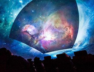 beautiful galaxy imagery in the Definiti Space Theater
