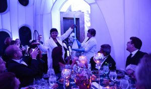 Science Sommeliers mingle with Celestial Ball guests.