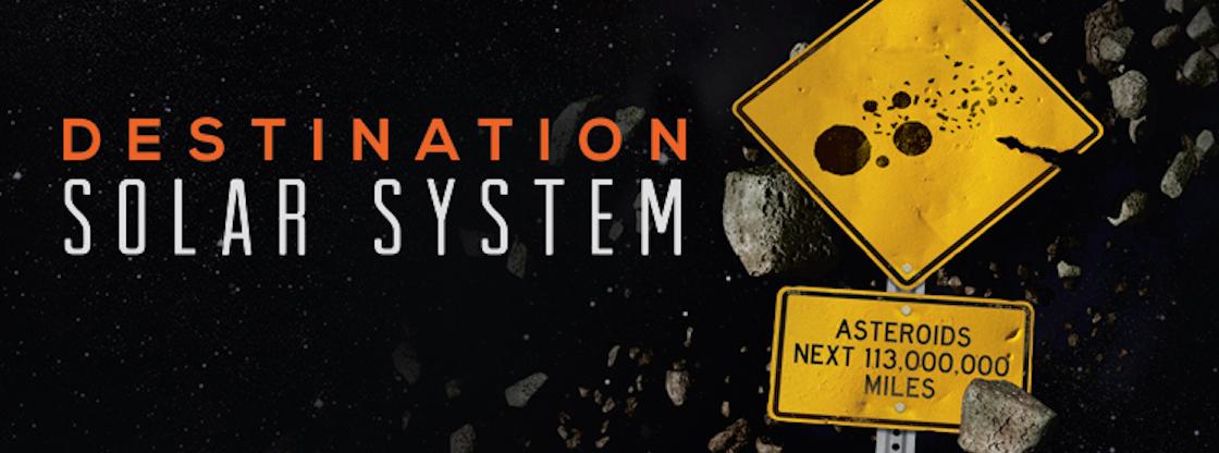 Explore space through the Adler Planetarium's sky show, 'Destination Solar System.'