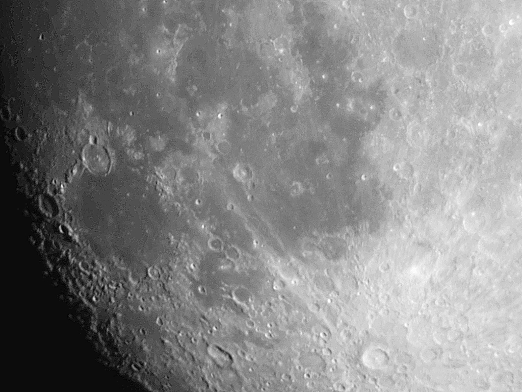 Up close image of the Moon taken by an Adler Planetarium astronomer in June 2020. Image Credit: Michelle Nichols