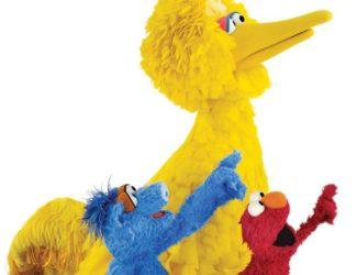 Big Bird, Elmo and friends.