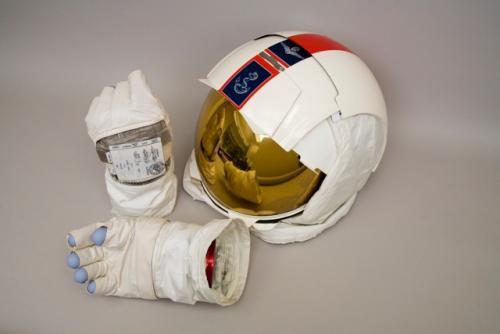 Apollo 13 gloves and helmet