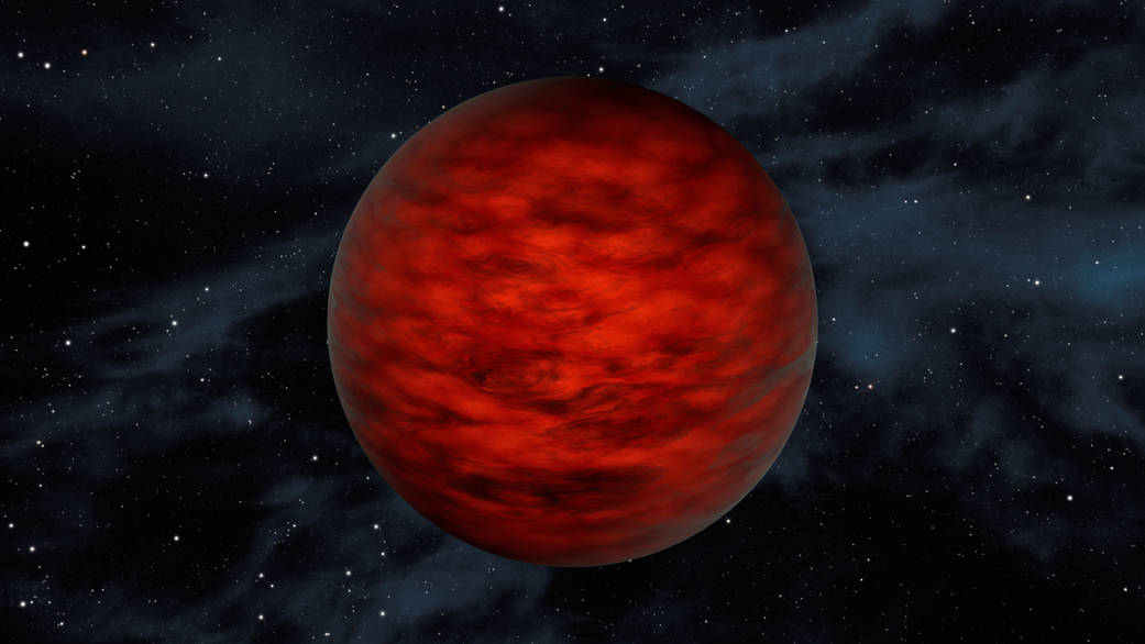 An artist's illustration of a brown dwarf. Image Credit: NASA
