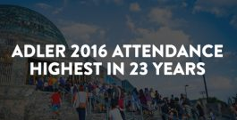 The Adler records their highest attendance in 23 years in 2016.